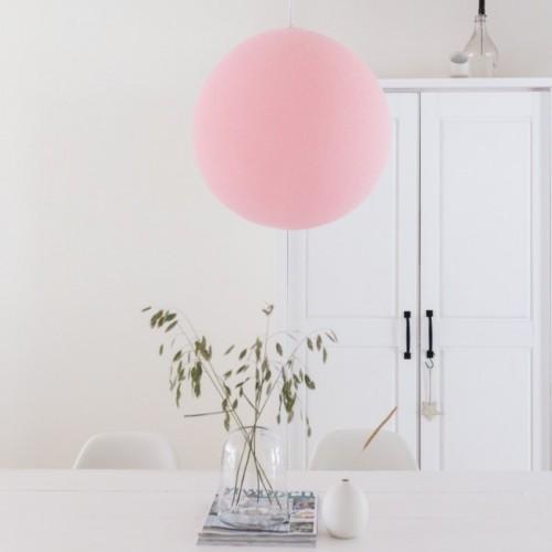 Cветильник подвесной шар Soft pink