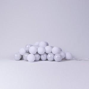 Хлопковая гирлянда White-Silver